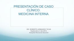 presentación de caso clínico. servicio de medicina interna