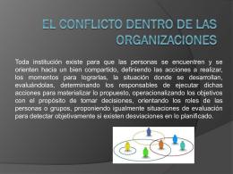 EL CONFLICTO DENTRO DE LAS ORGANIZACIONES (1).