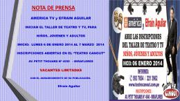 nota prensa taller teatro 2014