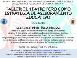 taller: el teatro foro - Escuela de Psicología PUCV