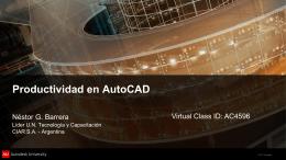 Productividad en AutoCAD - Virtual Class ID AC4596