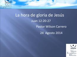 La hora de gloria de Jesús