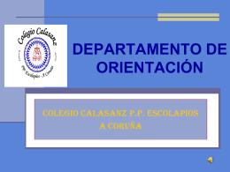 departamento de oreintación - Colexio Calasanz PP Escolapios