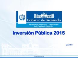 Tema 7. Sistema nacional de inversion publica