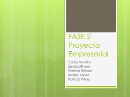 FASE 2 Proyecto Empresarial