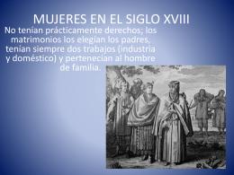 MUJERES EN EL SIGLO XVIII