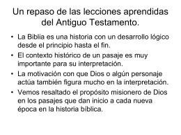 Las Misiones en el Nuevo Testamento 2014