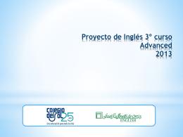 Proyecto 3er curso Inglés