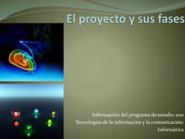 FASES DEL PROYECTO - Webquest Creator 2