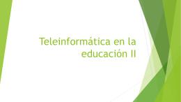 Teleinformática en la educación i