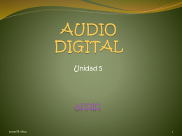 AUDIO Y VIDEO DIGITAL