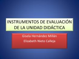INSTRUMENTOS DE EVALUACIÓN DE LA UNIDAD DIDÁCTICA