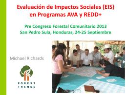Evaluación de Impactos Sociales (EIS) en