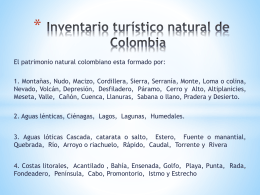 Inventario turistico natural de Colombia (6607374)