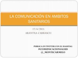 la comunicación en ambitos sanitarios