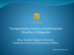 Principios Básicos de Transparencia
