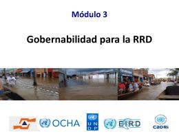 1. Sesión 3 gobernabilidad para la RRD-PNUD