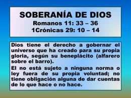3. soberanía de dios - Iglesia Cristiana La Serena