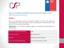 Observaciones - Centro de Sistemas Públicos