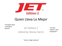 JET Edition 2 Edited by Stacey Harris Edition 2