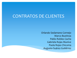 GESTION DE CONTRATOS DE CLIENTES