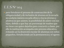 E.E.S Nº 104 - Escuelas en movimiento