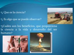 ¿Que es la ciencia?