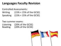 Languages Faculty Revision - Chesterton Community College