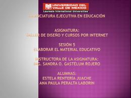 LICENCIATURA EJECUTIVA EN EDUCACIÓN ASIGNATURA