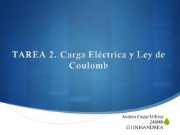 TAREA 2. Carga Eléctrica y Ley de Coulomb