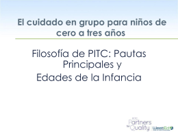 La filosofía de PITC - The Program for Infant/Toddler Care