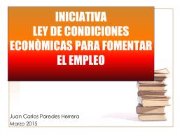 Iniciativa Ley para fomentar el empleo