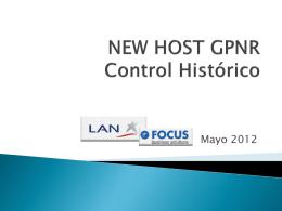 Capacitación NHGPNR CONTROL HISTORICO