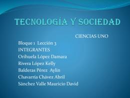 Tecnología y Sociedad - est116
