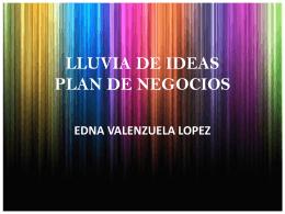 LLUVIA DE IDEAS PLAN DE NEGOCIOS