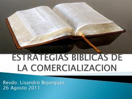 ESTRATEGIAS BIBLICAS DE LA COMERCIALIZACION