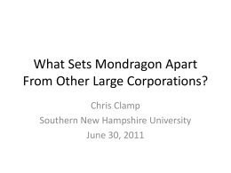 The Evolution of Management in the Mondragon Cooperatives