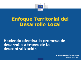 Desarrollo Local con enfoque territorial