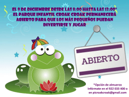 PowerPoint Presentation - Parque Infantil Croak Croak