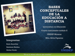 bases conceptuales - Educadoras del 4 cuatrimestre