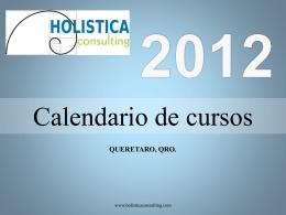2012 calendario de cursos