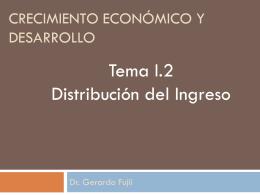 Crecimiento económico y desarrollo
