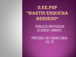 II.EE.PNP *MARTIN ESQUICHA BERNEDO*