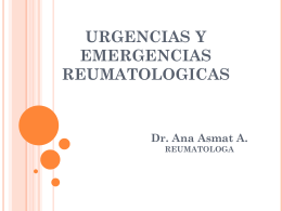 EMERGENCIAS REUMATOLOGICAS - CMP