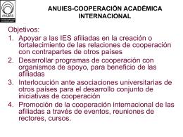 ANUIES-COOPERACIÓN ACADÉMICA INTERNACIONAL