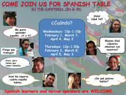 Ven! No importa cuánto español hables…