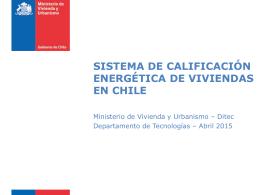 sistema de calificación energética de viviendas en chile