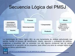 Marco Lógico - Proyecto de Mejoramiento de los Servicios de Justicia