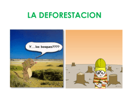 LA DEFORESTACION power