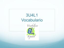 3U4L1 Vocabulario